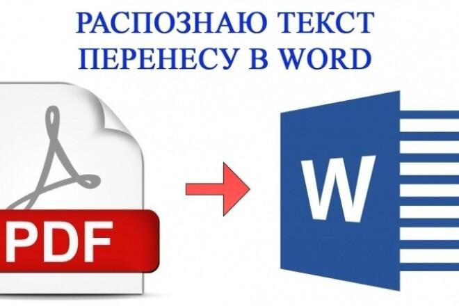 Переведу Ваши файлы PDF в формат Word 5 - kwork.ru