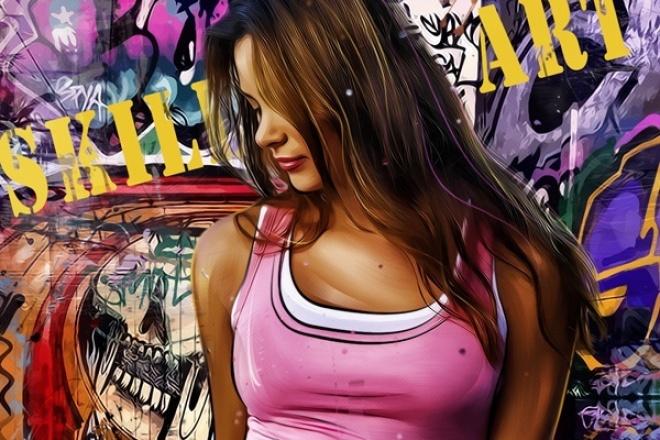 Отрисую ваше фото в арт-стилеИллюстрации и рисунки<br>Отрисую ваше фото в арт-стиле. Готовый портрет можно поставить на аватарку, подарить близкому человеку, распечатать и повесить на стену. Посмотрите работу в полном размере в прикрепленном файле.<br>