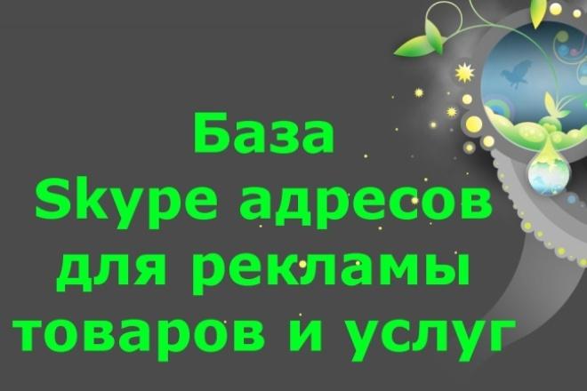 База Skype адресов для рекламы товаров и услуг 1 - kwork.ru