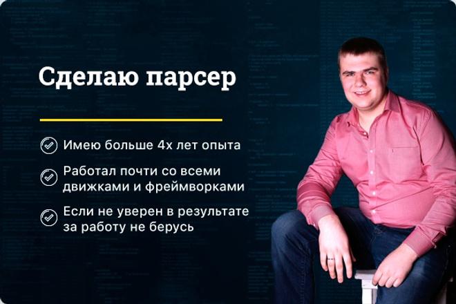 Сделаю парсер 1 - kwork.ru