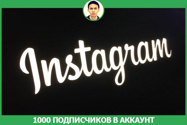 1000 живых подписчиков в аккаунт инстаграм (instagram) 1 - kwork.ru