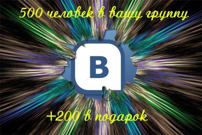500 человек в группу ВК+200 в подарок 1 - kwork.ru