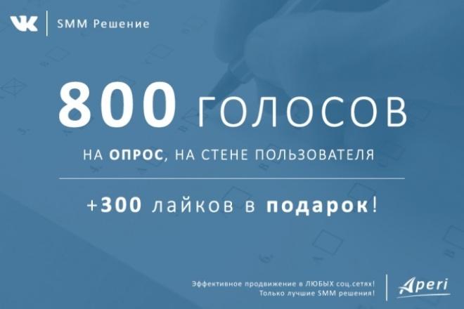 800 голосов на опрос а ВК +300 лайков в подарок! 1 - kwork.ru
