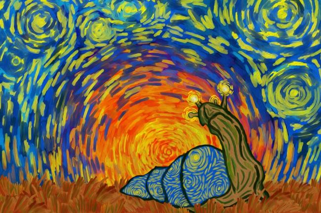 нарисую яркую иллюстрацию в стиле Ван Гога 1 - kwork.ru