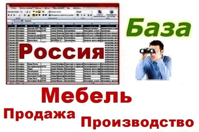 База продавцов и производителей мебели РФ 1 - kwork.ru