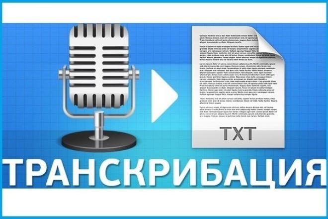 Сделаю транскрибацию текста 1 - kwork.ru