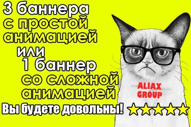 Анимированный баннер для сайта 1 - kwork.ru