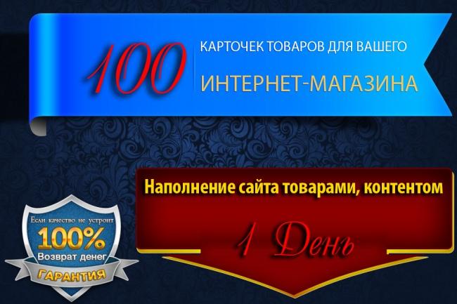 100 карточек товаров для Вашего ИМ 1 - kwork.ru