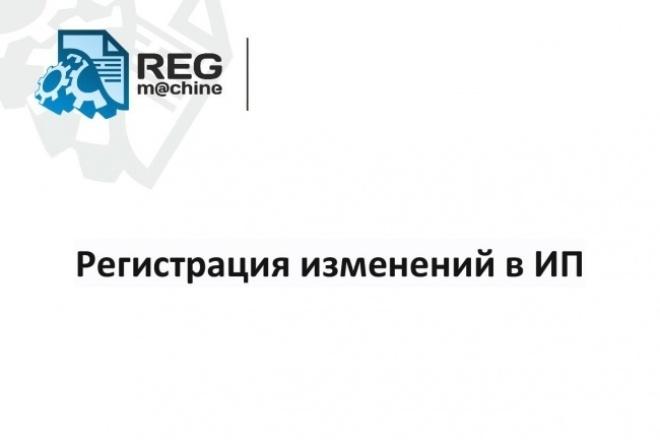 Регистрация изменений в ИП 1 - kwork.ru