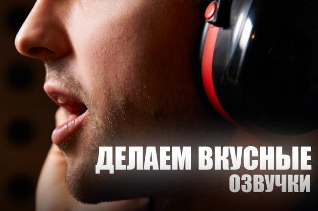 Озвучу текст или видео-ролик 1 - kwork.ru