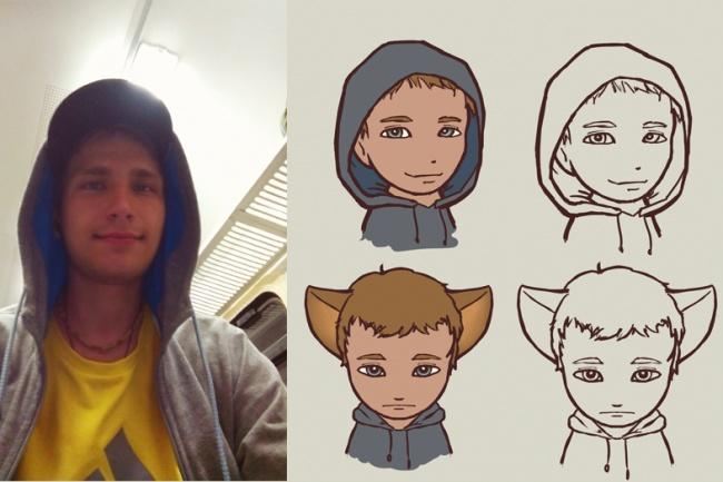 Создам чиби-аватар на основе вашего фото и нарисую его в трех позах 1 - kwork.ru
