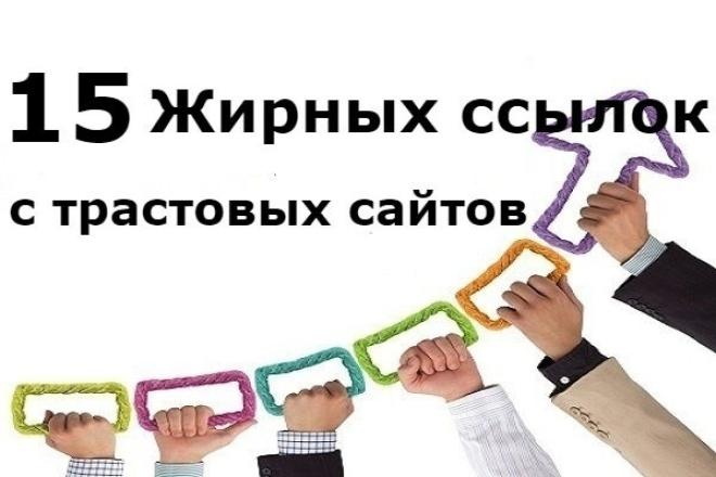 15 жирных вечных ссылок c трастовых сайтов 1 - kwork.ru