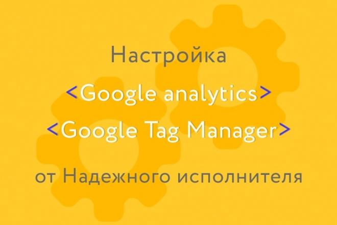 Установлю и настрою Google Analytics и Google Tag Manager 1 - kwork.ru