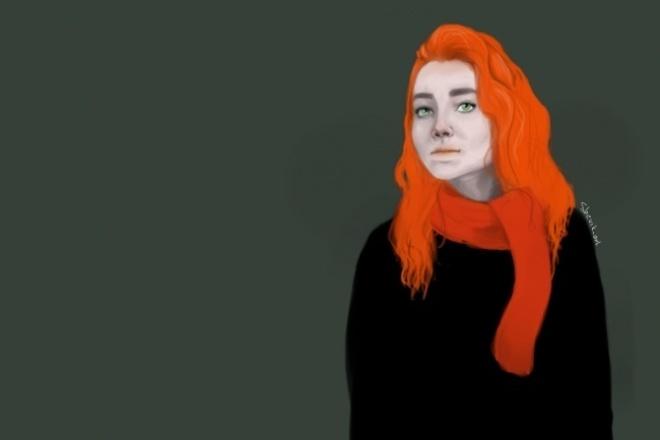 Нарисую ваш портрет в цифровом виде 1 - kwork.ru