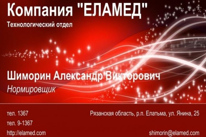Визитные карточки 1 - kwork.ru