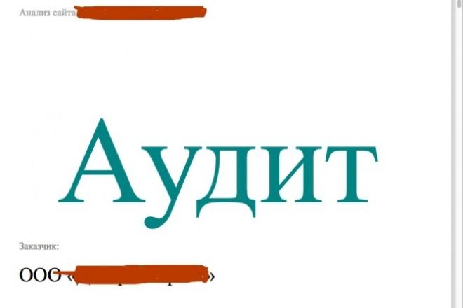 Экспресс-аудит сайта 1 - kwork.ru