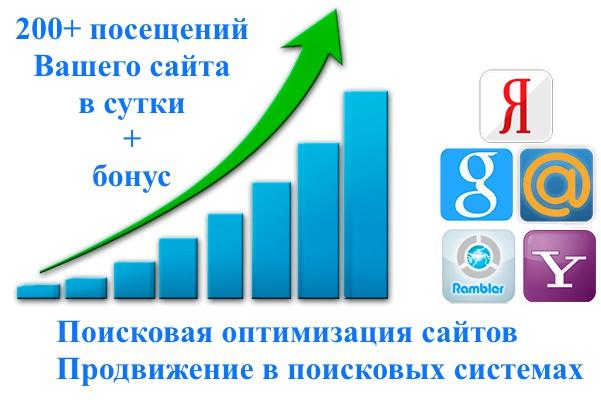 200+ уникальных посетителей на Ваш сайт в сутки 1 - kwork.ru