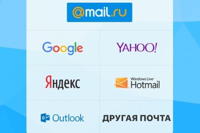 Зарегистрирую для Вас 40 почтовых ящиков (e-mail) 1 - kwork.ru