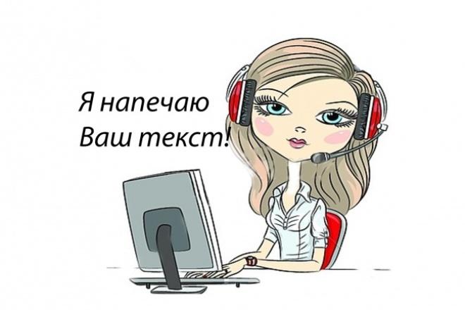 наберу, литературно отредактирую ваш текст 1 - kwork.ru