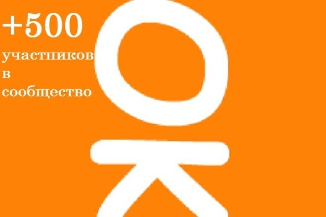 500 живых подписчиков в группу Одноклассники всего за 1 день 1 - kwork.ru