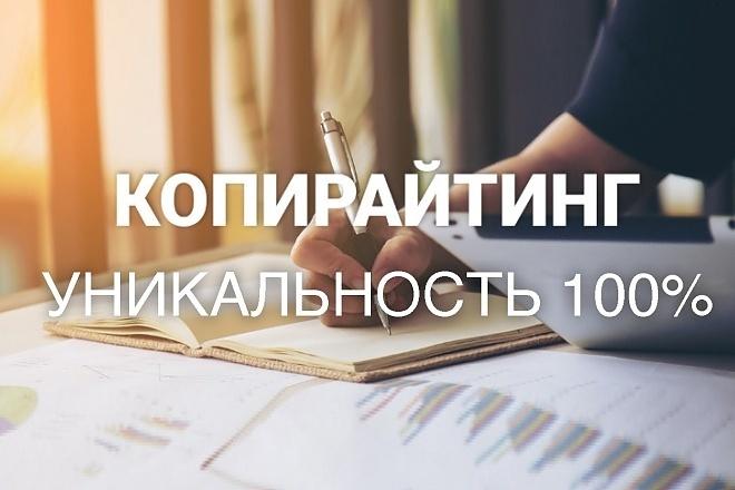 Копирайтинг до 6000 знаков 1 - kwork.ru