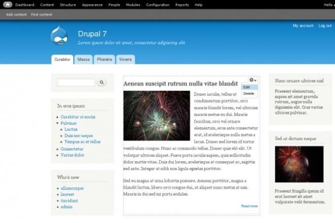 сайт на drupal 1 - kwork.ru