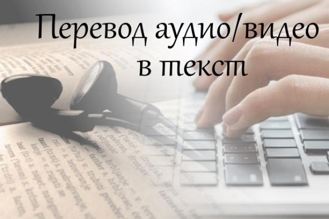 переведу аудио-/видео запись в текст (на английском языке) 1 - kwork.ru