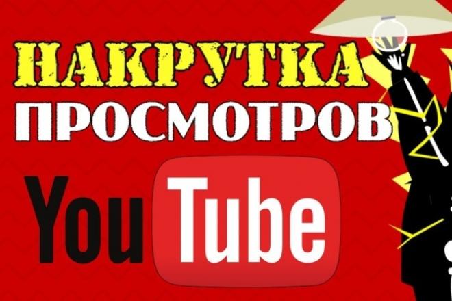 2000 просмотров на ваше видео в YouTube с удержанием 1 - kwork.ru