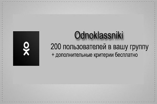 200 пользователей в группу в Одноклассниках 1 - kwork.ru