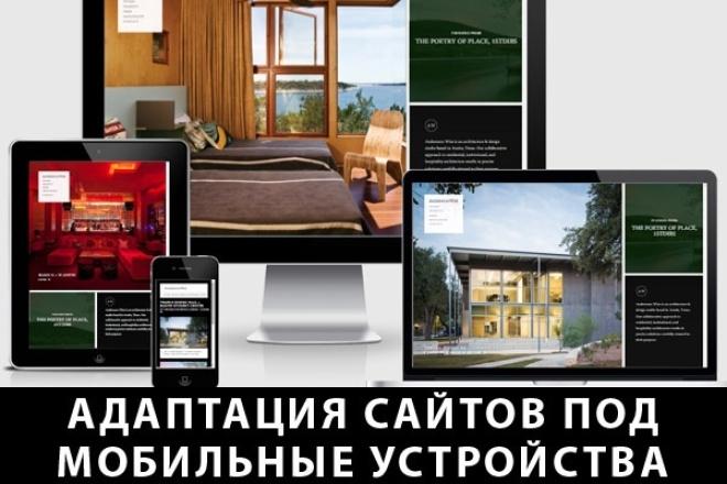 Адаптация сайта под мобильные устройства 1 - kwork.ru