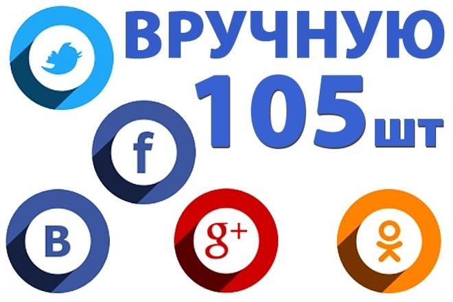 105 ссылок на ваш сайт из ВК FB TW G+. Только живыми людьми и вручную 1 - kwork.ru