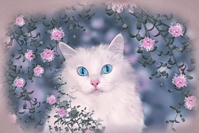 Сделаю портрет домашнего любимца-кота 1 - kwork.ru