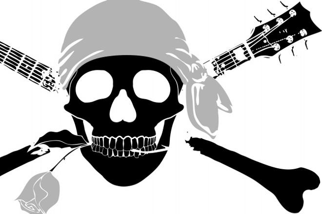 Разработка пиратского флага в векторе 1 - kwork.ru