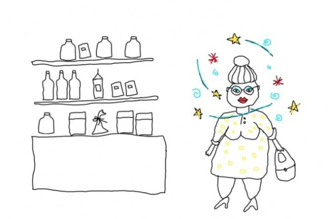 Анимация для сайта, рекламы или для презентацийВидеоролики<br>Предлагаю для вас забавную анимацию в стиле слайд-шоу, состоящую из веселых и простых иллюстраций. Особенности моих рисунков: минимализм, юмор, позитив. На базе моих рисунков создам анимационный видео-ролик слайд-шоу (с наездами и движением). Под музыку или под дикторский текст (дикторский текст должен будет предоставить заказчик). Эта анимация подойдет для презентаций, для рекламы, для вставки на сайт, для Youtube и пр.<br>