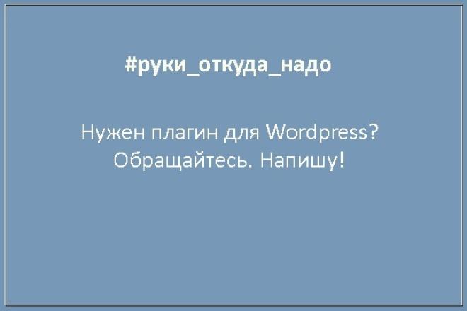 Напишу плагин под Wordpress 1 - kwork.ru
