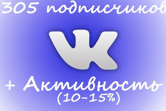 Приведу в вашу группу 305 человек с небольшой активностью 1 - kwork.ru
