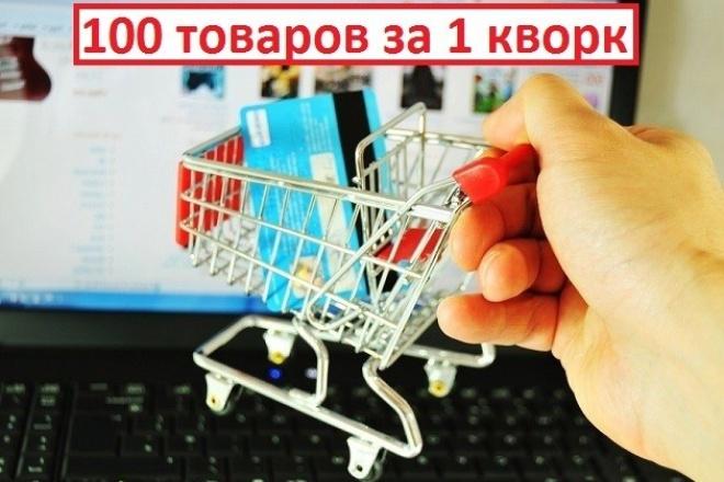 наполню магазин товаром 1 - kwork.ru