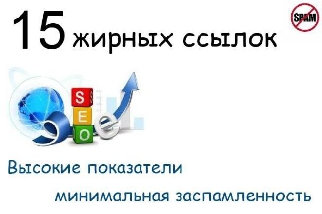 15 жирных вечных ссылок с трастовых сайтов с минимальным спамом 1 - kwork.ru
