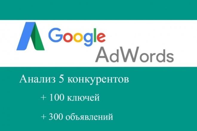 Запуск рекламы Google Adwords. 100 ключей, 300 объявлений 1 - kwork.ru