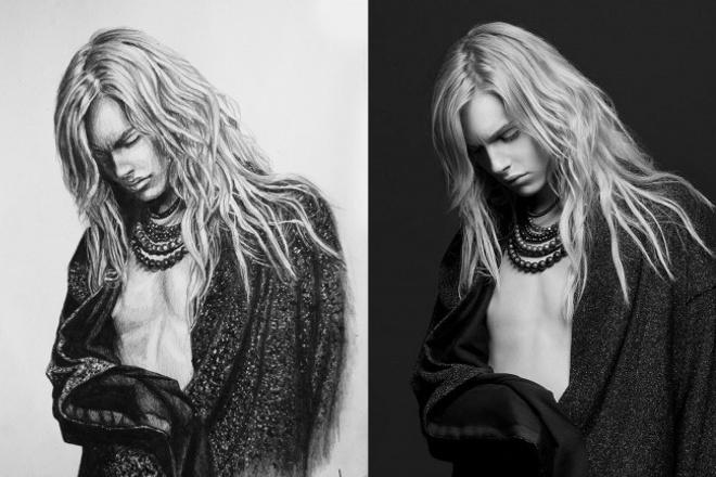 Нарисую портрет по фотографии. Цифровой или на бумаге 1 - kwork.ru