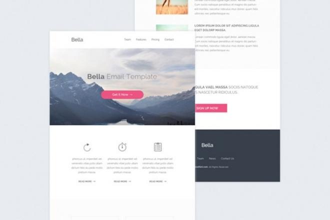 Дизайн email-рассылок 1 - kwork.ru