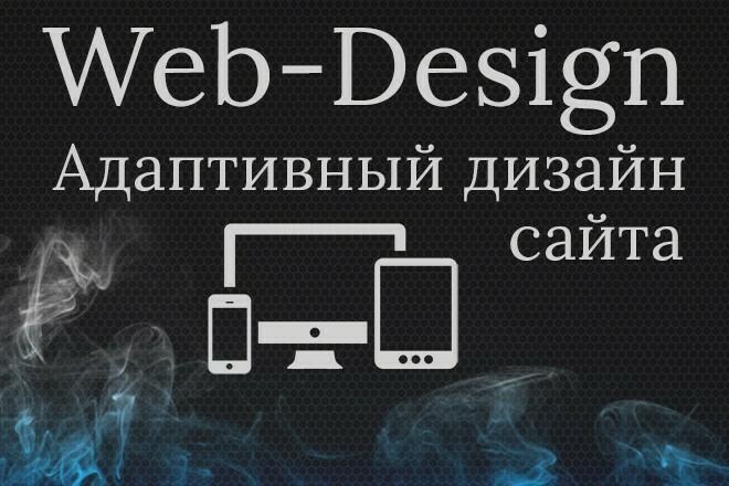 Адаптивный дизайн одного блока или элемента Вашего сайта в PSD 1 - kwork.ru