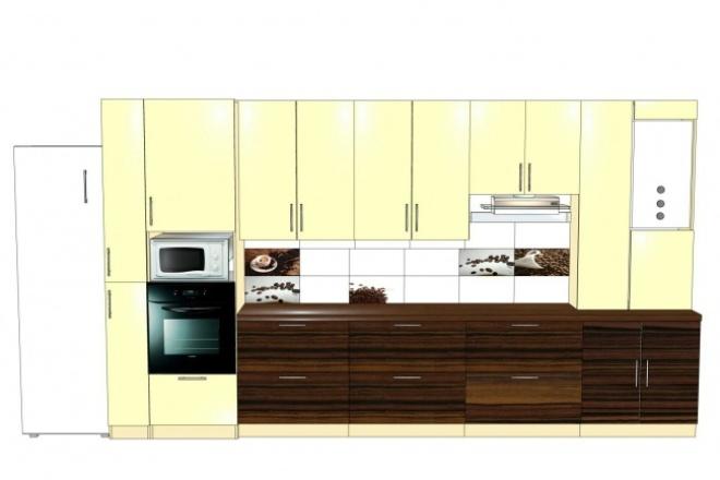 Сделаю проект мебели (3D) 1 - kwork.ru