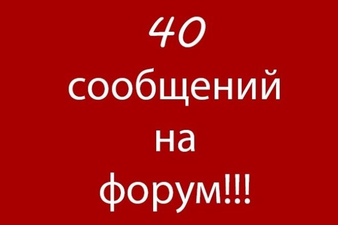 Наполню ваш форум сообщениями 1 - kwork.ru