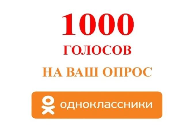 1000 голосов. Накрутка опросов в Одноклассниках 1 - kwork.ru