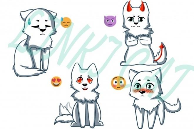 нарисую набор из 11 стикеров 1 - kwork.ru