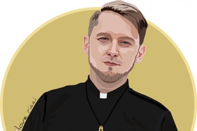 Нарисую качественный векторный портрет 1 - kwork.ru