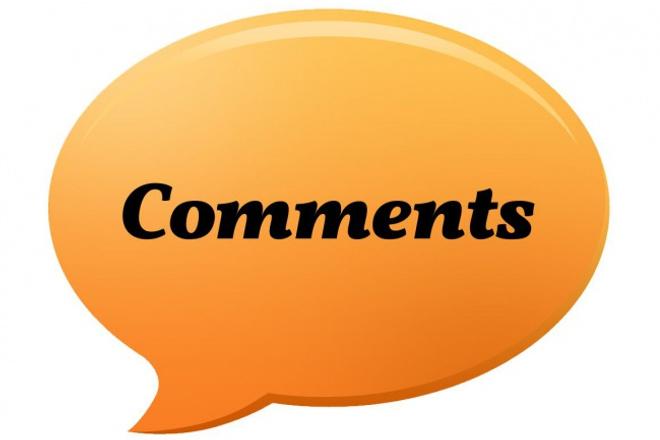 Грамотные комментарии на Ваш сайтНаполнение контентом<br>Услуга включает: - Написание 40 развернутых комментариев к Вашим статьям - Объем одного комментария от 300 до 500 знаков без пробелов - Возможна вставка ключевых слов в тело комментария - Делаем временные интервалы между комментариями - Возможна дискуссия в комментариях - Все наши комментарии – по делу, без воды и в рамках темы Вашей статьи - При необходимости изучим любую тему - Комментарии будут писать разные люди, так что у наших комментариев будет разный стиль и разные точки зрения. - Все делаем четко, в указанные временные рамки.<br>
