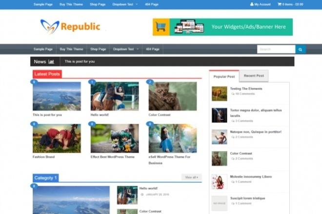 Разбирайте про версию темы на Wordpress RepublicСкрипты<br>Электронной коммерции тема для вашего WordPress сайта с удивительными особенностями, которые поддерживают bbPress, WooCommerce, Jetpack и другой замечательный плагин поставляется с мобильным дружественным адаптивным дизайном. Что есть в про версии: Срок службы обновления Полная поддержка Чистый Coding и дизайн отзывчивый Google Adsense Готовый SEO Оптимизированный Совместимость со всеми браузерами Множественный Layout Намного больше особенностей Разбирайтесь пользуйтесь!<br>