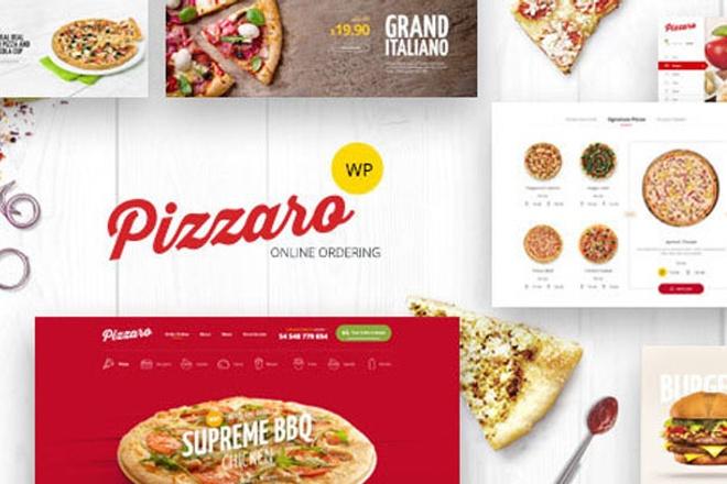 Шаблон для доставки еды WordPress 1 - kwork.ru